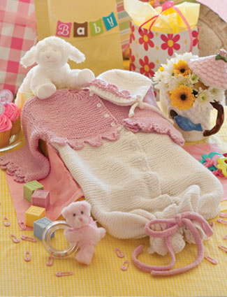 Camellia baby Bunting & Bonnet