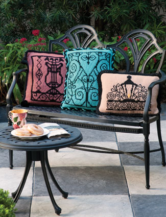 Wrought Iron Gate Pillows